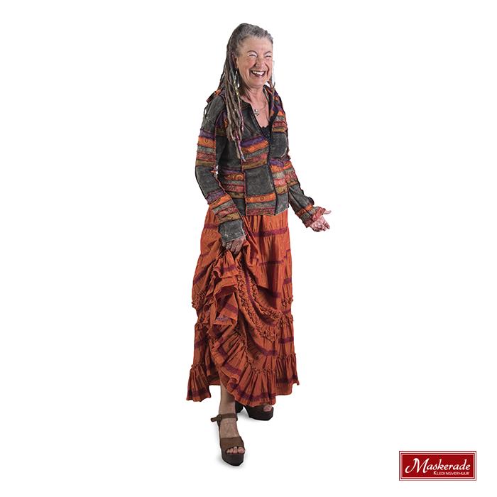 oranje hippie rok