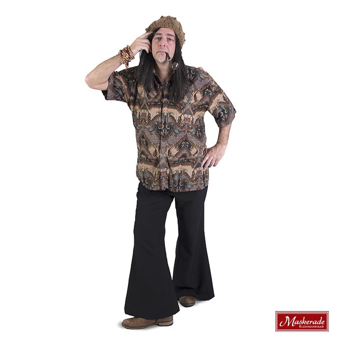 Hippie blouse met print en zwarte broek