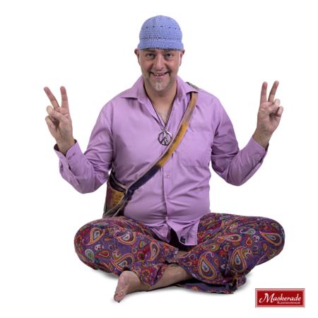 Lila hippie blouse met gekleurde broek