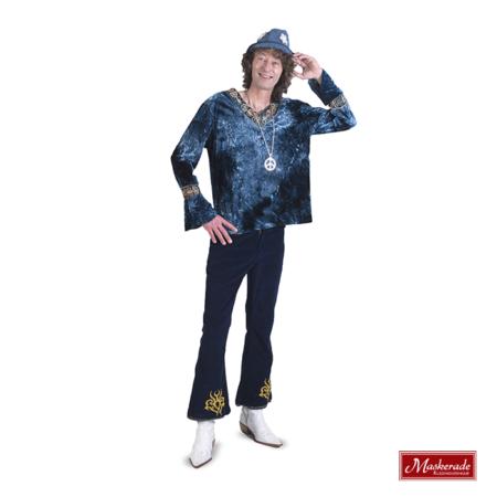 Blauw hippie shirt met blauwe broek