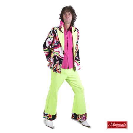 Hippie jas en broek met roze blouse