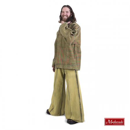 Groen India hippie vest met groene broek