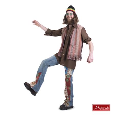 Bruine hippie blouse met broek en gilet