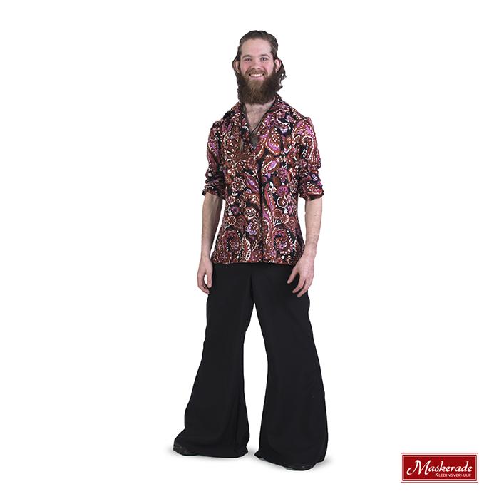 Gebloemde hippie blouse met broek