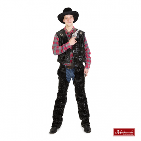 Zwarte cowboy kostuum