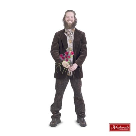 Bruin hippie colbert bruine blouse en broek