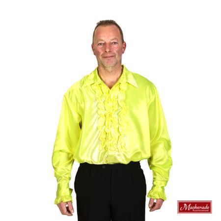 Rouchesblouse in geel