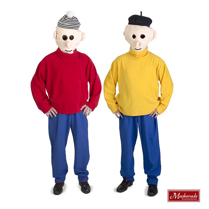 Bedwelming Buurman en Buurman met masker huren bij Maskerade Kledingverhuur &FV89